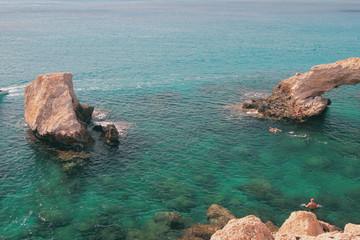 Rocks in sea. Agia Napa, Cyprus