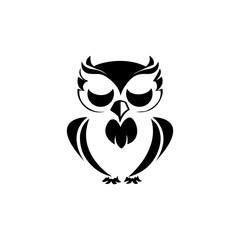 Canvas Prints Owls cartoon owl bird illustration logo template vector icon