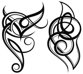 Tattoo design, shoulder abstract tattoo art tribal vector.