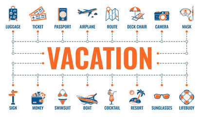 Vacation Time and Tourism Banner