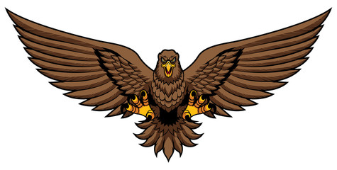 Golden Eagle Attack Mascot