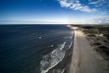 Fototapete - Eastern coast of Baltic sea at Liepaja, Latvia.