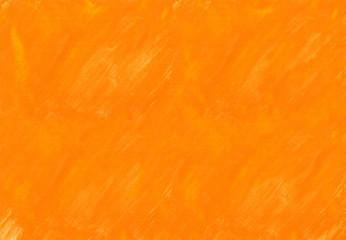 オレンジ色の水彩絵の具塗った色斑テクスチャ