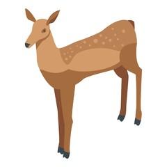 Bambi deer icon. Isometric of bambi deer vector icon for web design isolated on white background