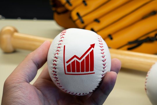 Business & strategy on baseball game for global concept