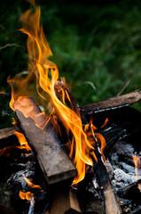 ogień płomień żar
