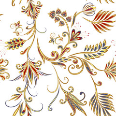 Deurstickers Boho Stijl Seamless pattern in ethnic traditional style.