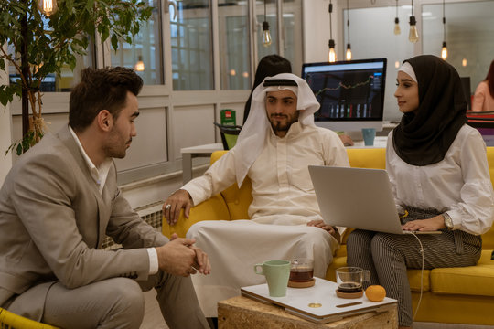 Arab business people in a meeting