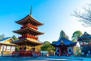 Pagoda at Narita-san Shinsho-ji temple, near Tokyo, Japan Wall mural