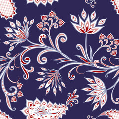 Photo sur Toile Style Boho Seamless pattern in ethnic traditional style.