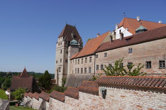 Burgmauern Burg Trausnitz Landshut