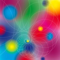 Foto op Canvas Spiraal Bunthintergrund Kreise