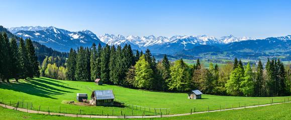 Wall Mural - Ausblick ins Oberallgäu an einem herrlichen Morgen im Mai