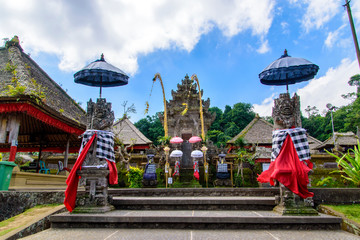 Hindu Temple in the traditional village of Panglipuran, Bali
