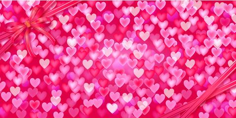 Ribbon bow   heart background