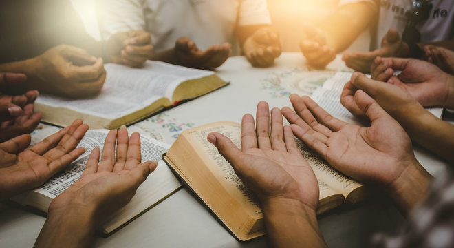 Christian Bible Study Concepts in churches.