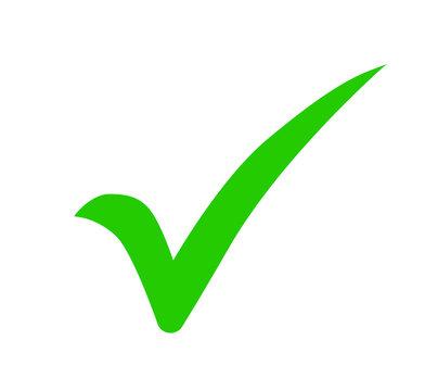 green check mark icon. Approval check vector icon. Tick symbol  vector illustration.