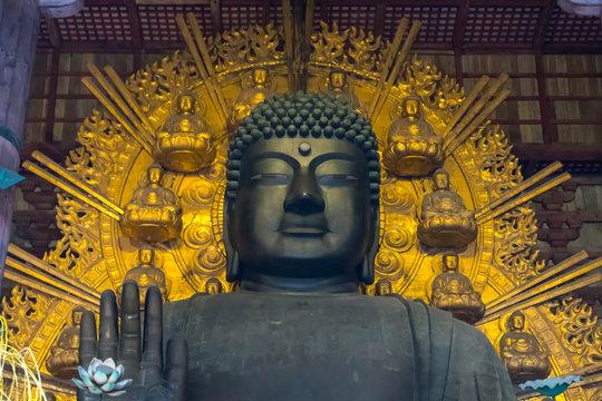 巨大な奈良の仏像、大仏