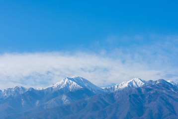 冬の常念岳