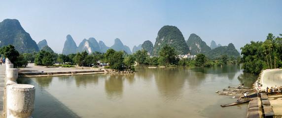 Foto auf Acrylglas Guilin yangsuo river