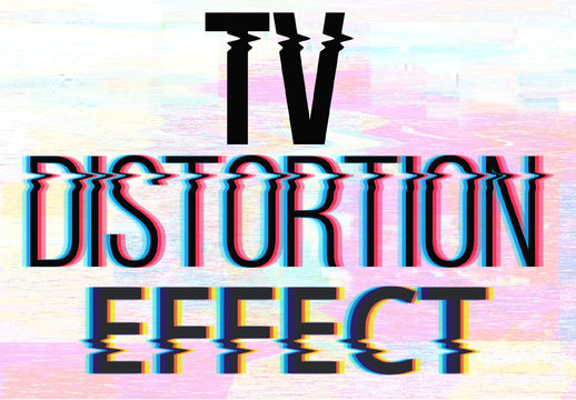 Tv Distortions Text Effect Mockup