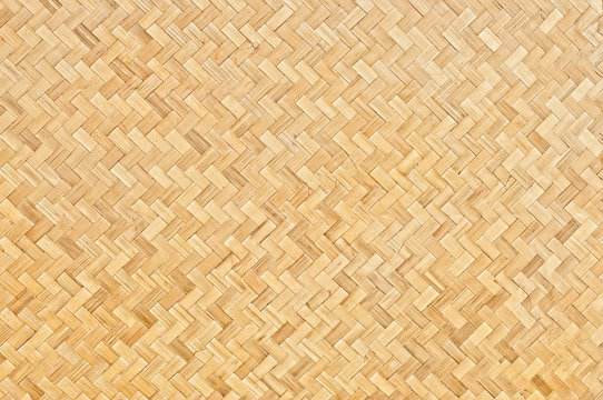 Handcraft woven bamboo texture background