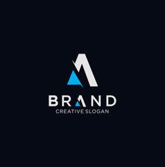 Letter A Tech Logo Design Vector Stock illustration .  A Logo Design Vector Stock .