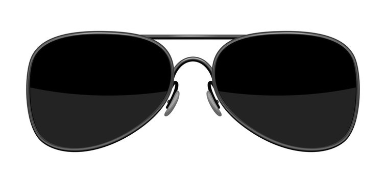 Illustration of stylish sunglasses.