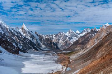 View of Laila Peak range on the way to Khuspang Camp, Pakistan