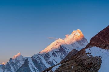 Sunrise view of Biarchedi Peak from Gondogoro La, Pakistan