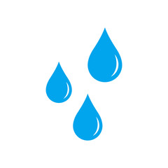 Vector illustration of water drop vector icon. Isolated.