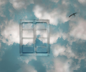Window And Clouds