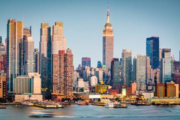 Fotobehang New York New York, New York, USA Skyline on the Hudson River