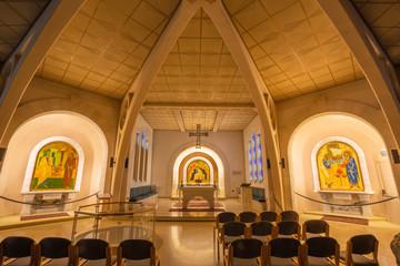 JERUSALEM, ISRAEL - MARCH 3, 2015: The Church of St. Peter in Gallicantu.