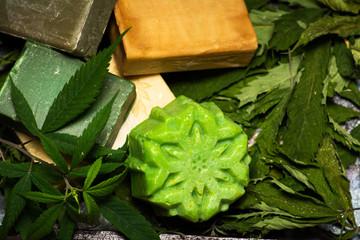 Cannabis herbal natural soap bars