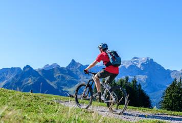 Mountainbiken in den Montafoner Bergen