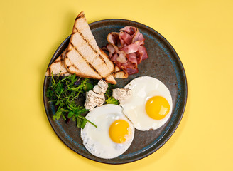 healthy Breakfast on a bright background
