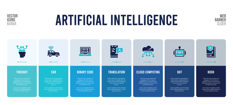 web banner design with artificial intelligence concept elements.