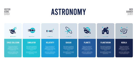 web banner design with astronomy concept elements. Fotomurales