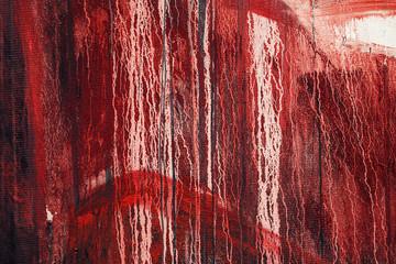 Wall Mural - Red paint splatter background