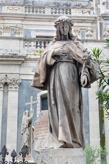 Wall Mural - CATANIA, ITALY - APRIL 7, 2018: The statue of St. Lucy in front of Basilica di Sant'Agata.