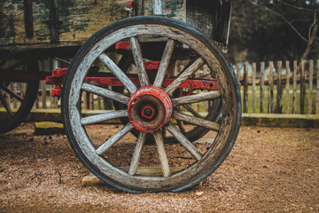 old wheel of wagon