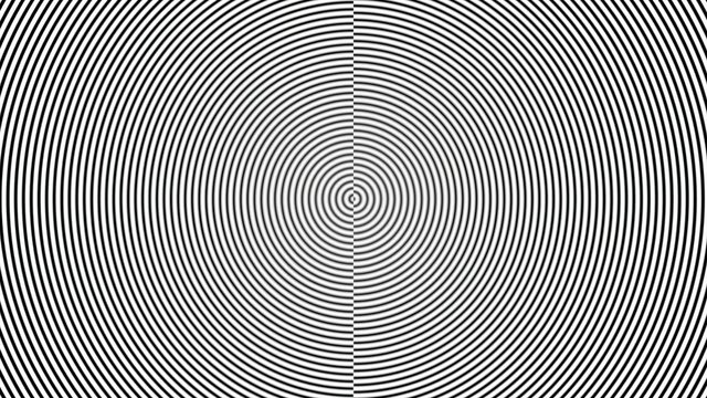 Black and white moire circle pattern - illustration