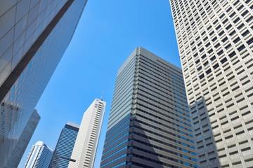 High-rise buildings of fine weather - Shinjuku, Tokyo, Japan  高層ビル ビジネス街  新宿