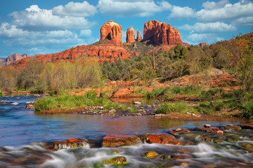 Canvas Prints Arizona Cathedral Rock Viewed From Red Rock Crossing 1