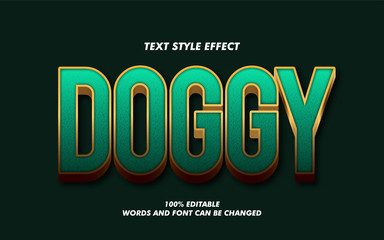 Modern Green and Gold 3D Bold Text Style Effect