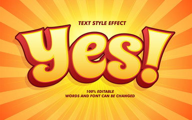Comic Cartoon Bold Text Style Effect