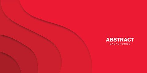 Vector abstract background - modern concept of red paper art style, banner. Fototapete
