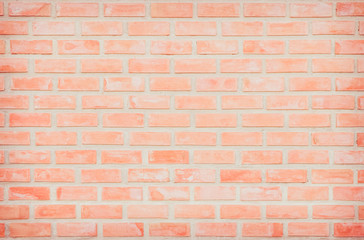 Background of wide old red brick wall texture. Old Orange brick wall concrete or stone wall...