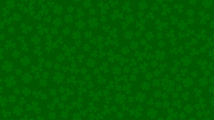Green background for St. Patrick's day in abstract style. Fresh backdrop with clower leaves. Background St. Patrick's day, great design for any purposes. Irish green holiday party. Wall mural